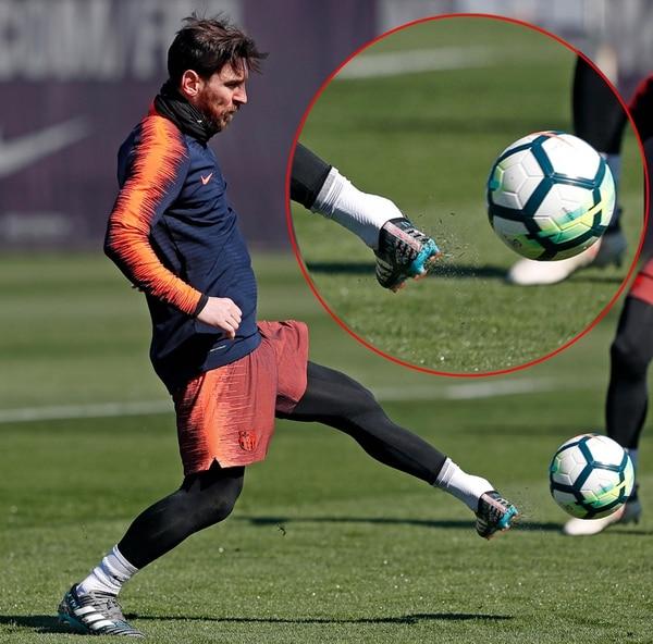 Al detalle: la rotación del cuerpo de Lionel Messi en la pierna izquierda