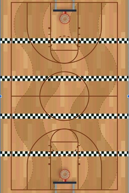 Basket on wheels: las dimensiones de la cancha y la altura de la canasta son las mismas que en el baloncesto clásico.