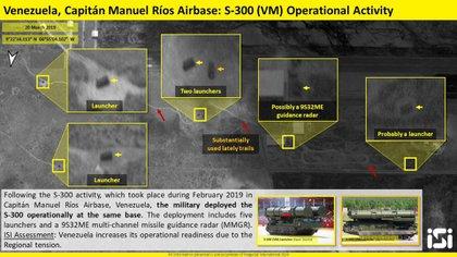 El despliegue de una batería de S-300VM al sur de Caracas fue detectado con imágenes satelitales (Twitter: @ImageSatIntl)