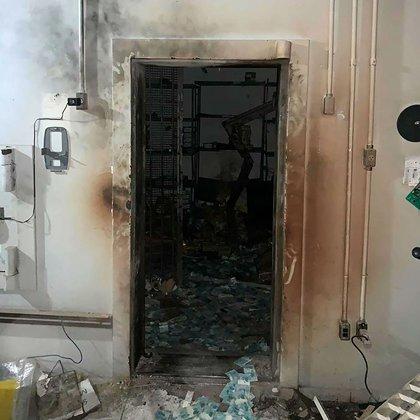 Así quedó la bóveda del Banco de Brasil tras el atraco (Polícia Civil)