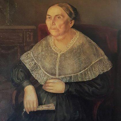 Doña María Mercedes Córdova. Oleo de García del Molino (circa 1830)