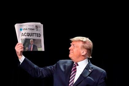 El expresidente de EE.UU., Donald Trump. EFE/EPA/Oliver Contreras/Archivo