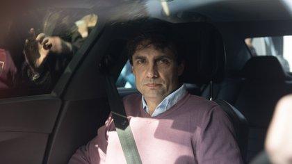 Hernán Lacunza, al llegar a la quinta Los Abrojos (Fotos: Adrián Escándar)