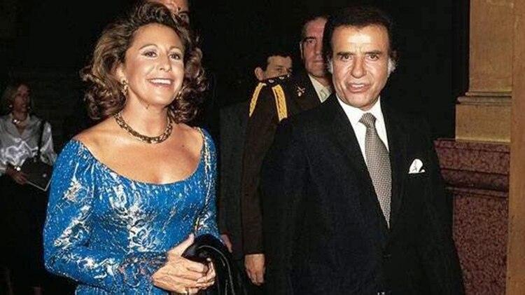 Carlos Menem junto a María Julia Alsogaray