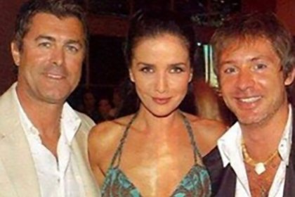 Gabriel Corrado junto a Adrián Suar y Natalia Oreiro (Foto IG)