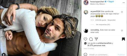 Los usuarios de la red social se mostraron sumamente indignados por la publicación y no perdonaron que el actor haya comenzado un nuevo amorío.- Horacio Pancheri vía Instagram (@horaciopacheri)
