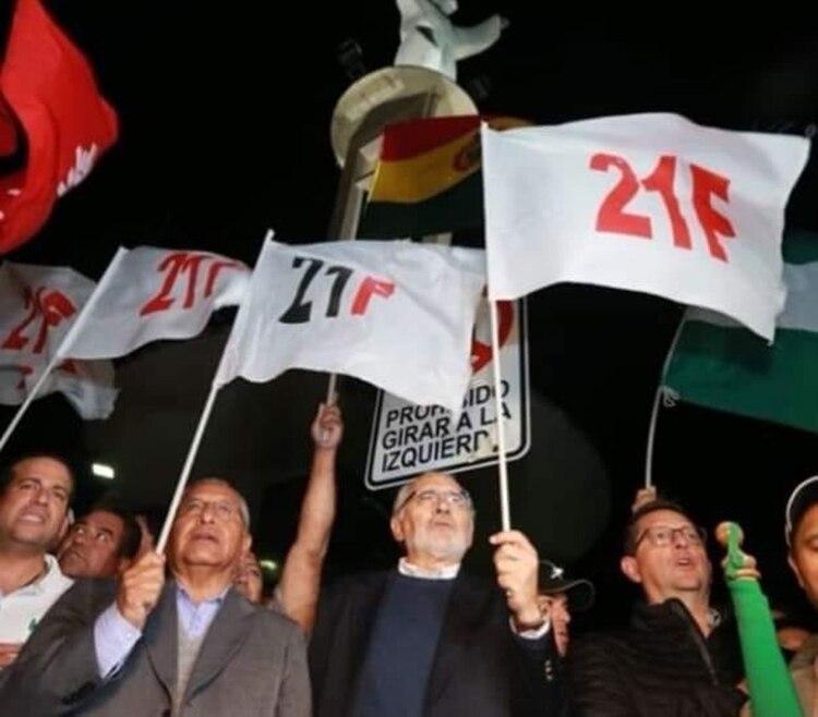 El paro es contra la nueva postulación de Evo Morales