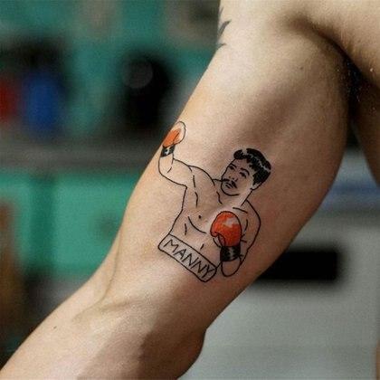 El actor se tatuó al boxeador Manny Pacquiao. (Foto: Instagram)