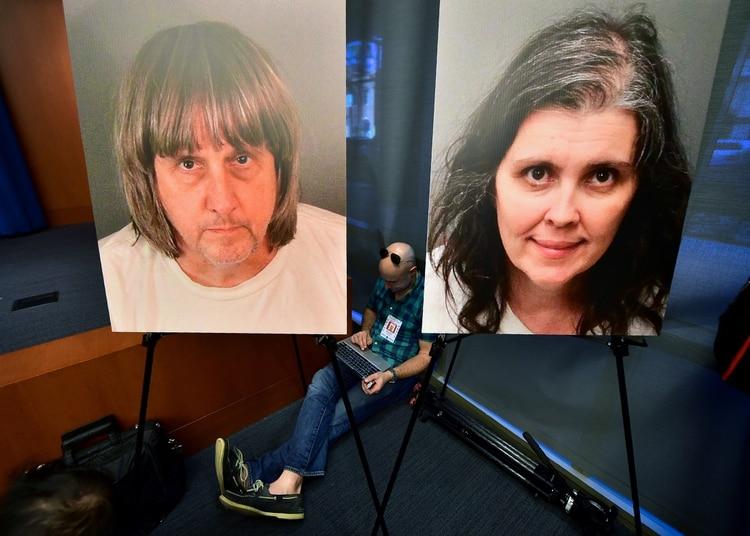 Los padres de la casa del horror. (Foto: FREDERIC J. BROWN / AFP)