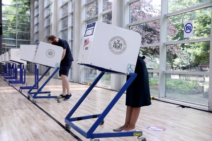 Centro de votación en el Bronx, Nueva York (Reuters)