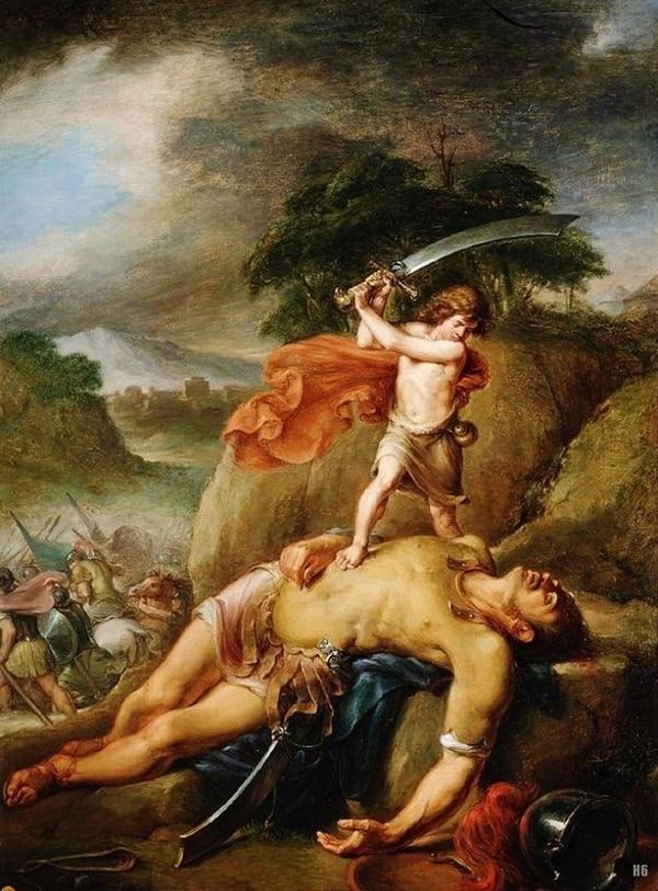 David y goliat, quizá la historia sobre un gigante más difundida en occidente