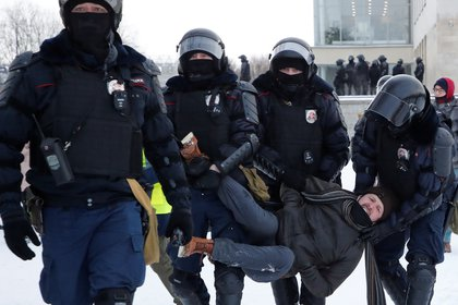 Detención en San Petersburgo (Reuters)