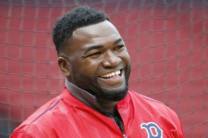 David Ortiz durante un entrenamiento con los Boston Red Sox en 2016 (AP /Michael Dwyer, File)