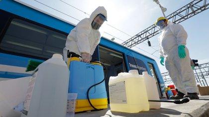 En los trenes de la línea Roca se comenzó a aplicar un nuevo sanitizante