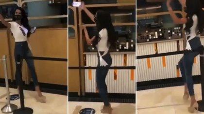 El momento viral de Miss Panamá: se tropezó al tratar de tomar una selfie