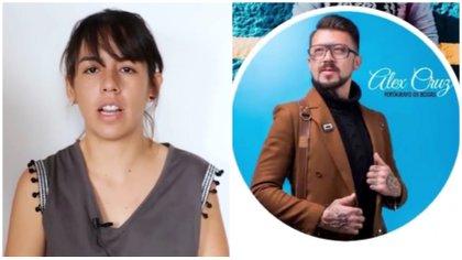 Diana Quirós y Alex Cruz. Foto: capturas de video