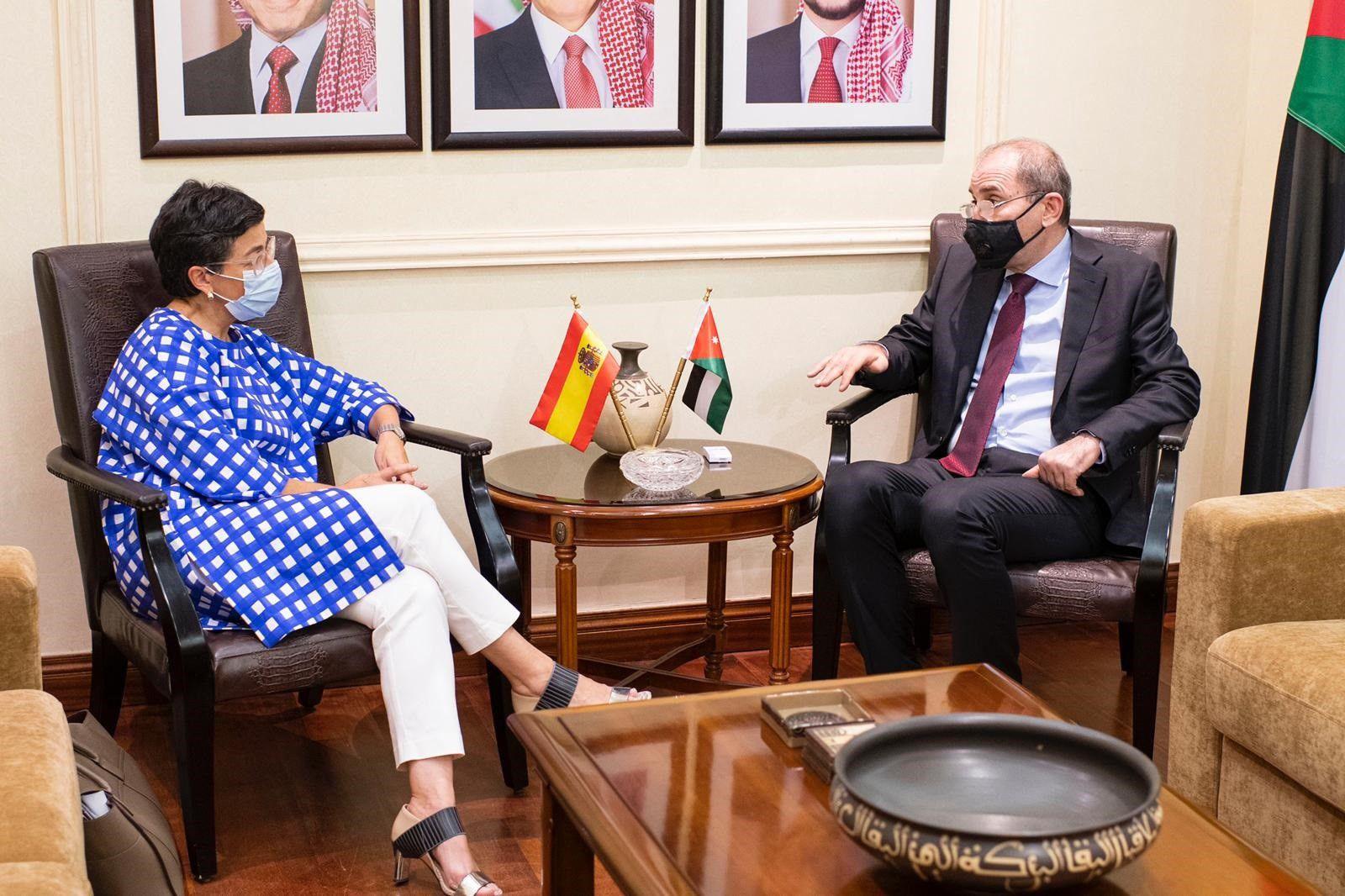 01/10/2020 La ministra de Asuntos Exteriores, UE y Cooperación, Arancha González Laya, se reúne en Ammán con su homólogo jordano, Ayman Safadi EUROPA ORIENTE PRÓXIMO ASIA ESPAÑA JORDANIA POLÍTICA TWITTER MINISTERIO DE ASUNTOS EXTERIORES