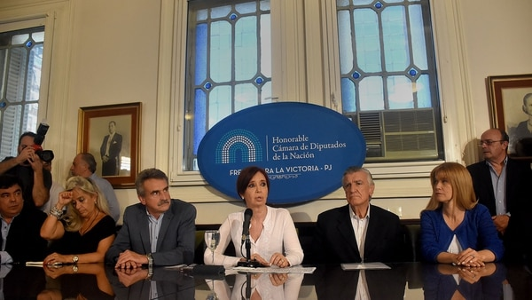 Cristina Kirchner, la semana pasada, en el Congreso (Foto: Nicolás Stulberg)