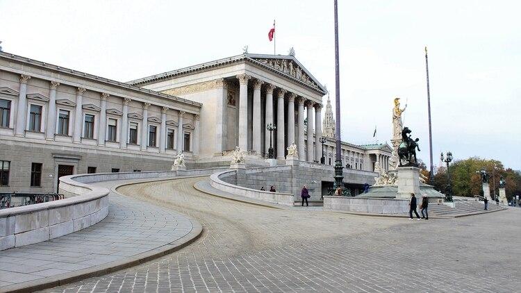 La sede del parlamento de Austria, en Viena (Shutterstock)
