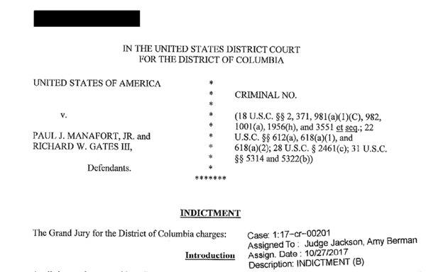 La acusación contra Manafort y Gates