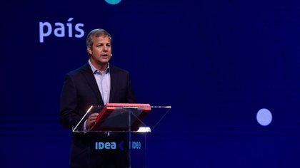 El presidente de IDEA, Roberto Murchison, durante su discurso de cierre  del 56° Coloquio
