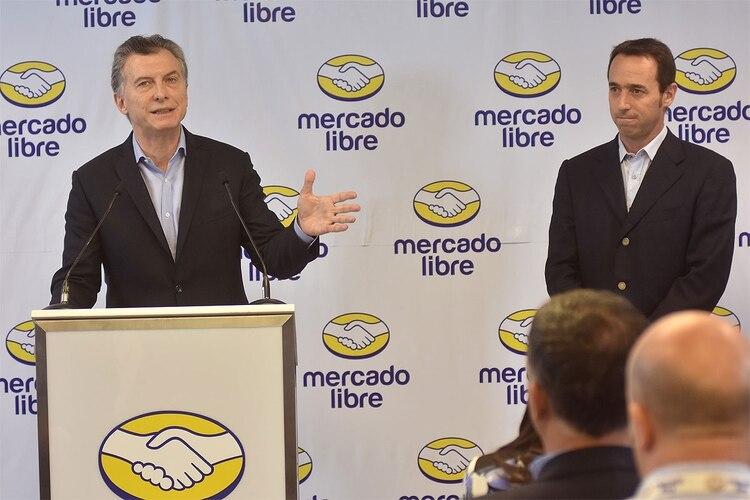 Mauricio Macri y Marcos Galperin (DyN)