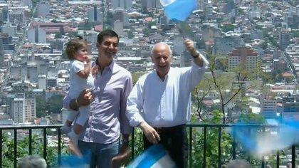 Lavagna y Urtubey, durante el cierre de campaña en Salta