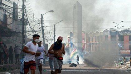 Las protestas en Bolivia (AFP)