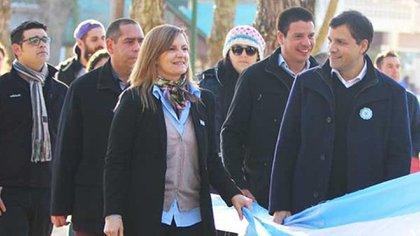 El intendente De Jesúsy la senadora Demaría