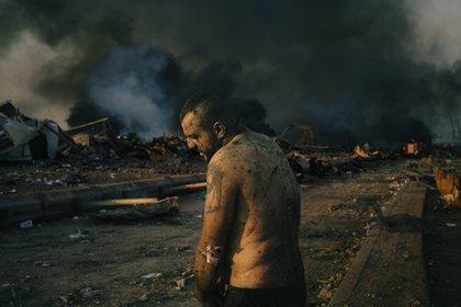 Una imagen posterior a la explosión que en agosto arrasó una extensa área aledaña al puerto de Beirut (Lorenzo Tugnoli/ Contrasto for The Washington Post)