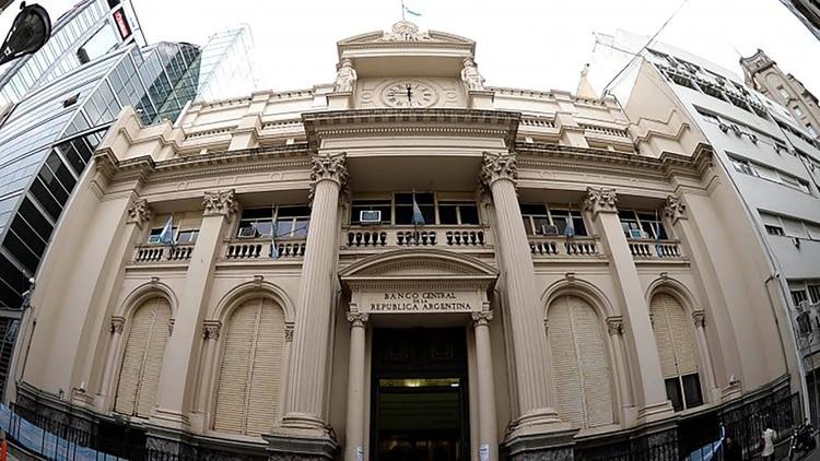 La sede del Banco Central, en la City porteña. (DyN)