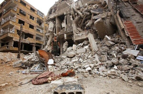La ciudad de Duma en ruinas (AFP)
