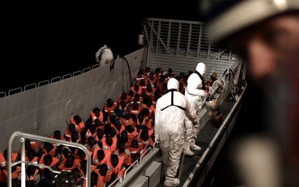 Los migrantes, a bordo del Aquarius (Karpov/handout via REUTERS)