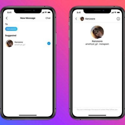 Se buscará limitar el envío de mensajes directos en Instagram entre jóvenes y adultos desconocidos