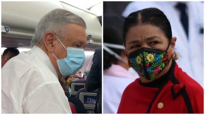 Sauri deseó que López Obrador use el cubrebocas durante las mañaneras (Foto: Collage/ Cuartoscuro)