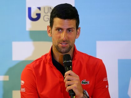 FILE PHOTO: Tennis - Adria Tour - Zadar, Croatia - June 19, 2020   Serbia's Novak Djokovic during a press conference   REUTERS/Antonio Bronic/File Photo