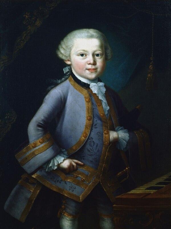 El niño Mozart compuso su primer sinfonía a los 8 anños