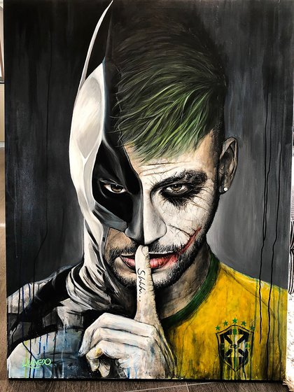 Neymar entre Batman y la selección brasileña (@neymarjr).