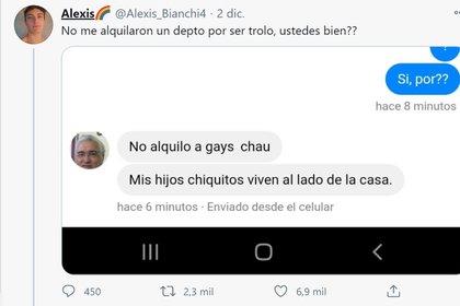 El tuit de Alexis Bianchi que recibió miles de likes