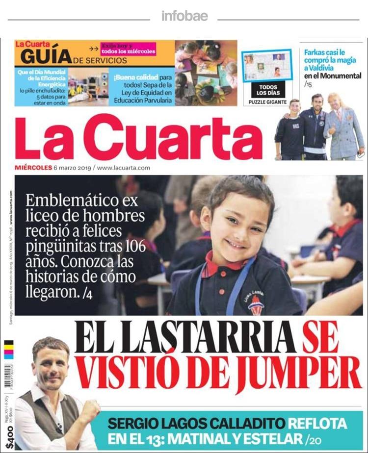 La Cuarta, Chile, Jueves 7 de marzo de 2019 - Infobae