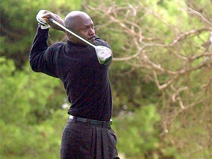 Michael Jordan mostró su afición por el golf en reiteradas oportunidades