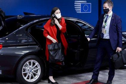 La primera ministra de Finlandia, Sanna Marin. Olivier Hoslet/Pool via REUTERS