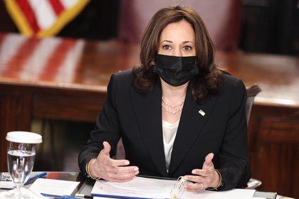 En la imagen, Kamala Harris, vicepresidenta de EE.UU. EFE/EPA/Oliver Contreras
