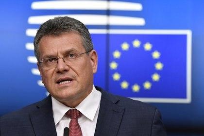 El vicepresidente de Relaciones Institucionales de la CE, Maros Sefcovic