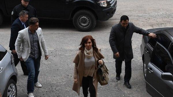 Cristina Kirchner, en Comodoro Py (Foto: Maximiliano Luna)