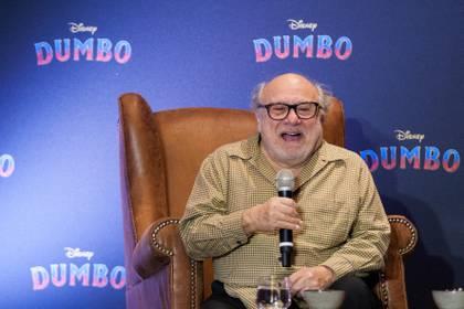 """El actor, director y productor de cine estadounidense, Danny DeVito, ofreció conferencia de prensa con motivo del estreno de la cinta """"Dumbo"""" (Foto: Cuartoscuro)"""