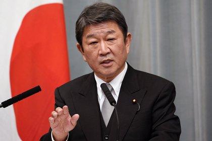 Toshimitsu Motegi, ministro de Asuntos Exteriores de Japón (EFE/EPA/FRANCK ROBICHON)