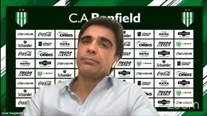 Javier Sanguinetti fue presentado como nuevo DT de Banfield mediante una conferencia de prensa por Zoom