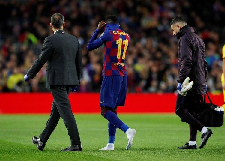 Dembélé jugó tan solo nueve partidos en esta temporada - REUTERS/Albert Gea