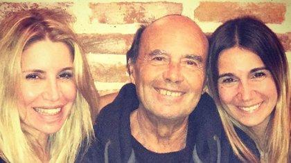 Florencia junto a su papá, Julio, y su hermana, Belén